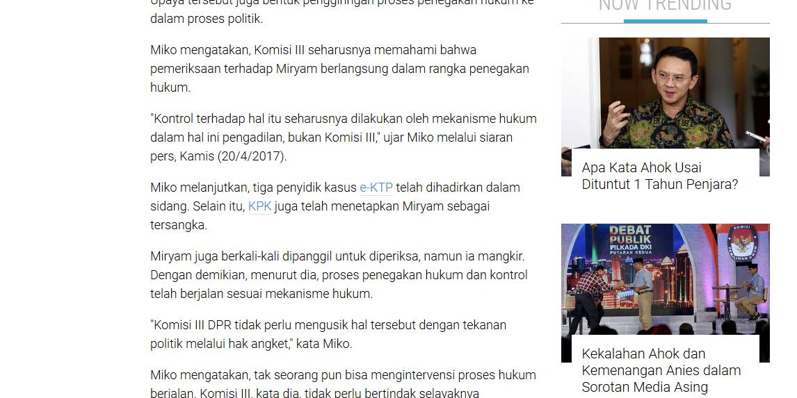 Gulirkan Hak Angket terhadap KPK, Komisi III Dianggap Intervensi -  pshk.or.id